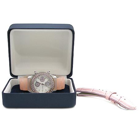 Agatha(아가타) 핑크 크리스탈 베젤 크로노 그래프 여성용 시계