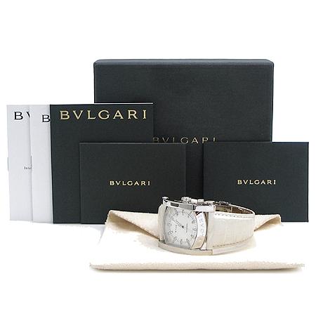 Bvlgari(불가리) A44S 리미티드 에디션 다이아 인덱스 자개 다이얼 아시오마 가죽 밴드 시계