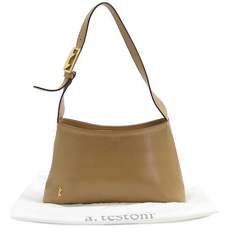 A.testoni(테스토니) 금장 로고 숄더백 이미지5 - 고이비토 중고명품