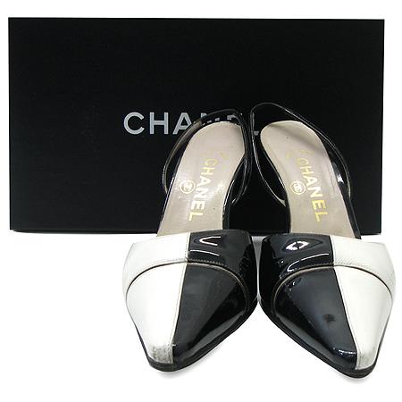 Chanel(샤넬) 블랙&화이트 여성용 샌들 이미지2 - 고이비토 중고명품