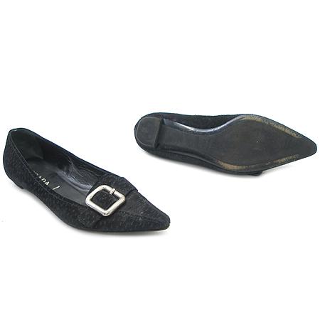 Prada(프라다) 스웨이드 벨트 장식 여성용 구두