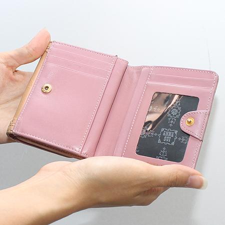 Anna Sui(안나수이) 버터플라이 로고  장식 에나멜 반지갑