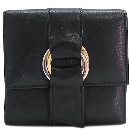 Cartier(까르띠에) 3색 트리니티 블랙 램스킨 3단 반지갑 [강남본점]