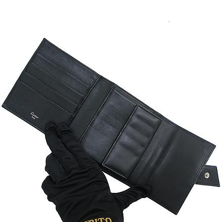 Cartier(까르띠에) 3색 트리니티 블랙 램스킨 3단 반지갑 [강남본점] 이미지2 - 고이비토 중고명품