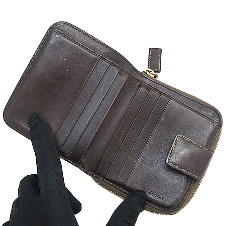 Prada(프라다) 1M0605 로고 패브릭 짚업 반지갑