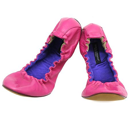 D&G(돌체&가바나) 핑크 컬러 플랫 슈즈