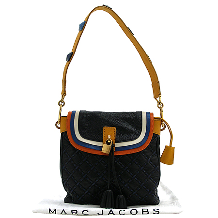 Marc_Jacobs MARIA (마리아) 누빔 삼색스티치 금장 자물쇠 장식 숄더백