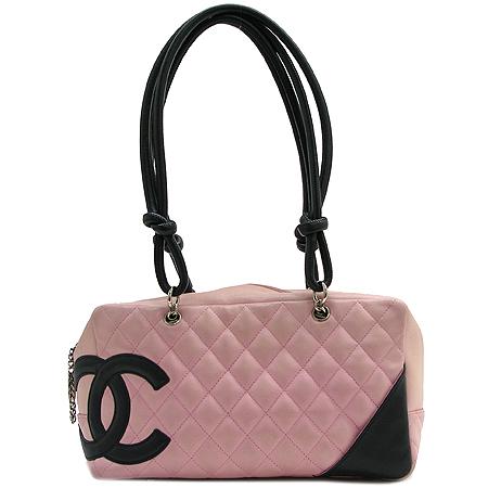 Chanel(샤넬) COCO 로고 핑크 깜봉 볼링 숄더백