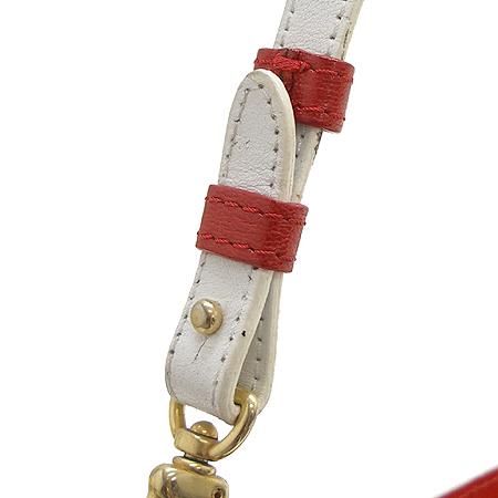 Etro(에트로) 18449 금장 로고 장식 페이즐리 패턴 레드 애나멜 숄더백