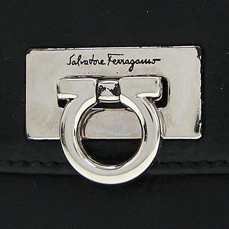 Ferragamo(페라가모) 22-A596 은장 간치니 버클 반지갑