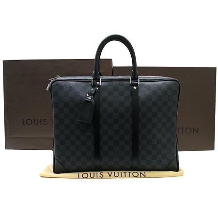 Louis Vuitton(루이비통) N41125 다미에 그라피트 캔버스 포르테 다큐먼트 보야지 서류 토트백 이미지2 - 고이비토 중고명품