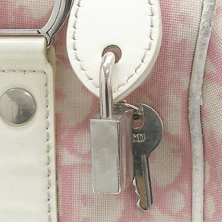 Dior(크리스챤디올) 로고 PVC 페이던트 스티치 미니 보스톤 토트백