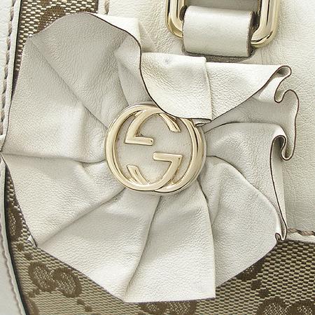 Gucci(구찌) 189825 GG 로고 자가드 래더 스티치 원통 토트백