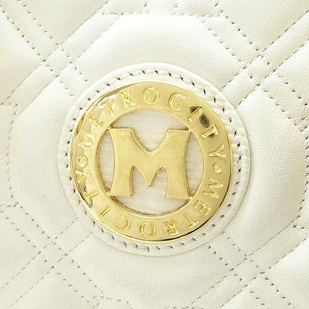 Metrocity(메트로시티) 금장 로고 장식 퀄팅 보스톤 토트백
