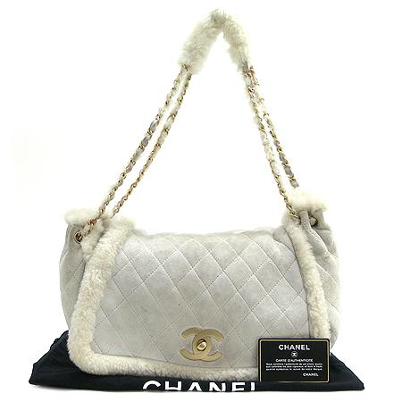 Chanel(샤넬) 토끼털 퀄팅 스웨이드 체인 숄더백