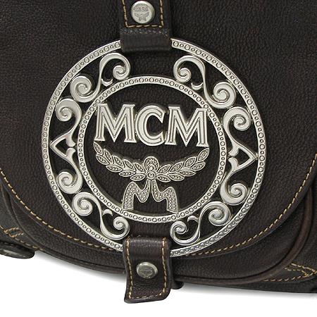 MCM(엠씨엠) 은장 로고 장식 원포켓 브라운 컬러 토트 겸 숄더백 [부산센텀본점]