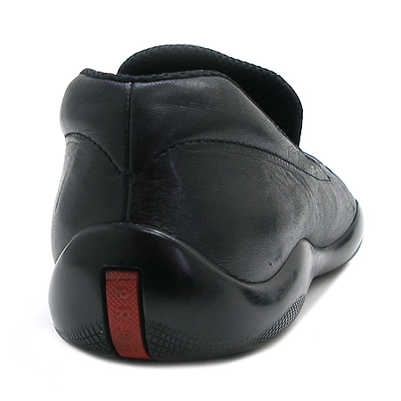 Prada(프라다) 블랙 래더 남성용 스니커즈 이미지4 - 고이비토 중고명품
