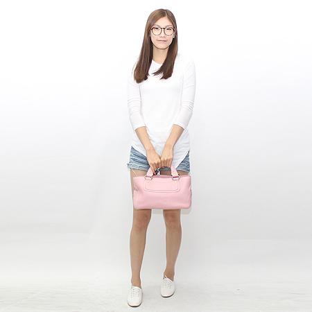 Celine(셀린느) 핑크 래더 부기 토트백