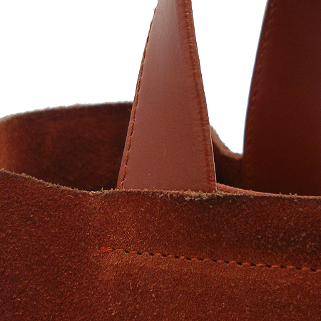 FURLA(훌라) 브라운 세무 래더 금장 로고 방울 장식 토트백 이미지5 - 고이비토 중고명품