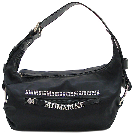 Blumarine(블루마린) C573002 GA5730 블랙 패브릭 이니셜 큐빅장식 숄더 겸 토트백
