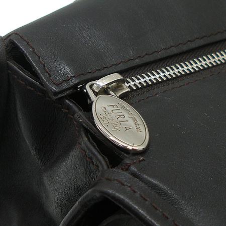 FURLA(훌라) 브라운 래더&스웨이드 링 장식 숄더백 [강남본점] 이미지5 - 고이비토 중고명품