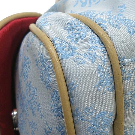 Blumarine(블루마린) 블루걸 스카이 패브릭 로고 패턴 숄더백