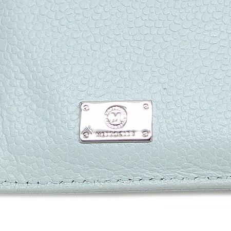 Metrocity(메트로시티) 은장 로고 라이트 블루 래더 3단 중지갑 이미지5 - 고이비토 중고명품