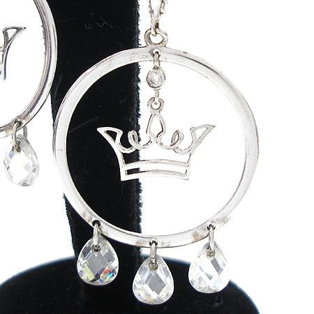 J.ESTINA(제이에스티나) 실버(925) 로고 크리스탈 장식 귀걸이
