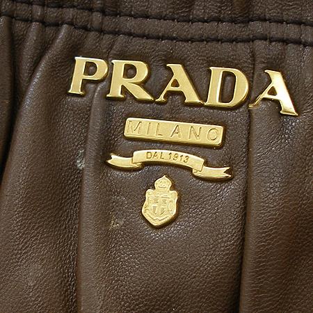 Prada(프라다) 나파 고프레 다크 브라운 레더 토트백 + 숄더 스트랩