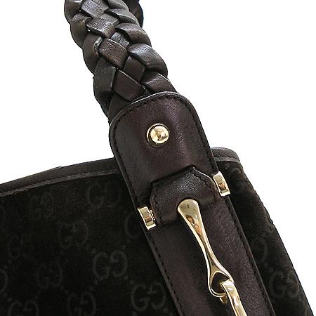 Gucci(구찌) 137621 GG 로고 시마 스웨이드 레더 숄더백