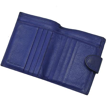 MULBERRY(멀버리) RL8494 퍼플 컬러 로고 플레이트 장식 반지갑
