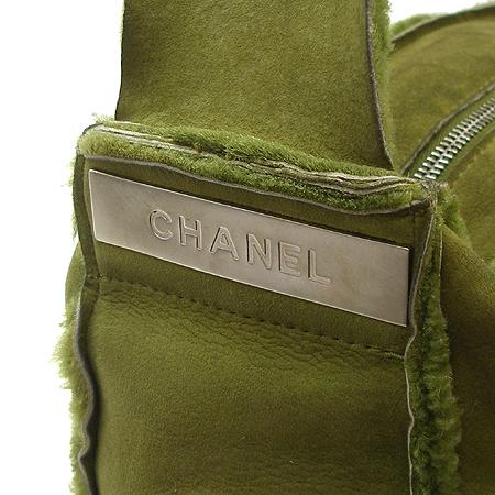 Chanel(샤넬) 그린 스웨이드 토끼털 숄더백