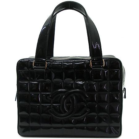 Chanel(샤넬) 블랙 페이던트 퀄팅 정방 토트백