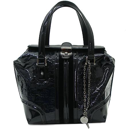 Gucci(구찌) 146002 블랙 네이비 에나멜 로고 패턴 토트백[인천점]