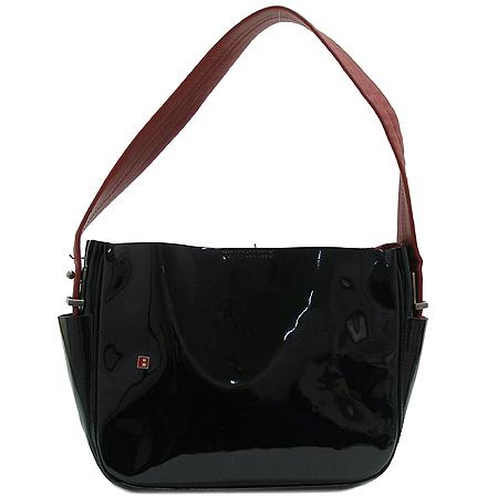 Bally(발리) 블랙 페이던트 로고 장식 숄더백 + 보조파우치