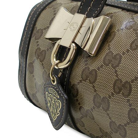 Gucci(구찌) 181485 GG 로고 PVC 은장 리본 장식 원통 토트백