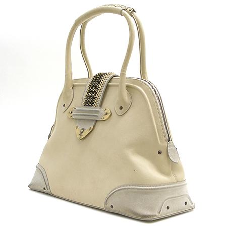 Dior(크리스챤디올) 잔느 금장 로고 벨트 장식 스웨이드 래더 토트 겸 숄더백 [부산센텀본점]