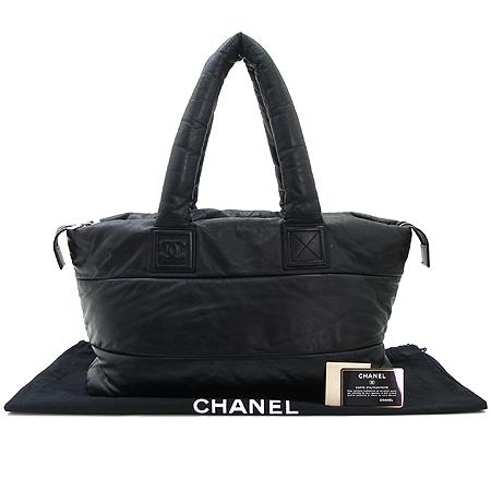 Chanel(샤넬) 블랙 레더 램스킨 코쿤 토트백