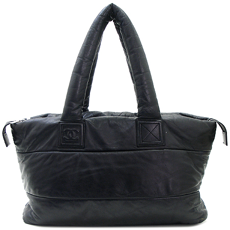 Chanel(샤넬) 블랙 레더 램스킨 코쿤 토트백 이미지2 - 고이비토 중고명품