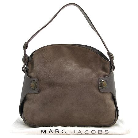 Marc_Jacobs(마크제이콥스) 스웨이드 브론즈 로고 단추 장식 토트백