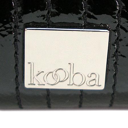 KOOBA(쿠바) 블랙 페이던트 은장 버클 장식 클러치 겸 숄더백