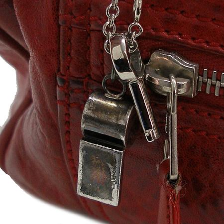 Balenciaga(발렌시아가) 168034 레드 레더 휘슬 토트백