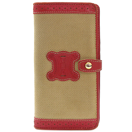 Celine(셀린느)  아이보리 자가드 여성용 장지갑