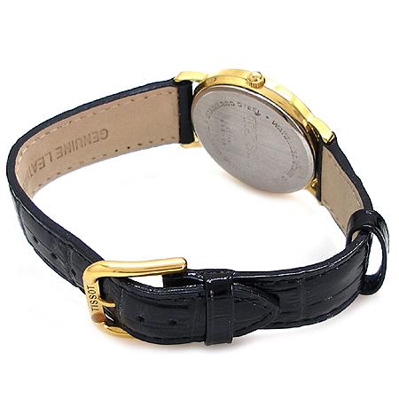 TISSOT(티쏘) 금장 라운드 가죽밴드 시계
