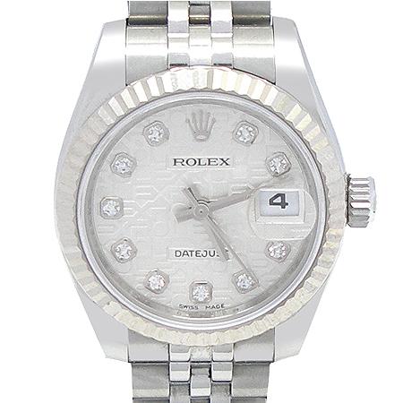 Rolex(로렉스) 179174 DATEJUST(데이트저스트) 10포인트 다이아 스틸 컴퓨터판 여성용 시계