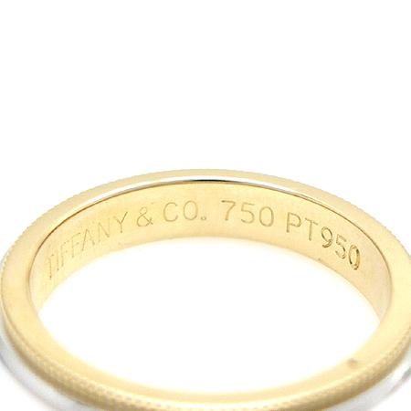 Tiffany(티파니) PT950(플래티늄)+18K 골드 콤비 밀그레인 3MM 반지 - 9호 [명동매장]