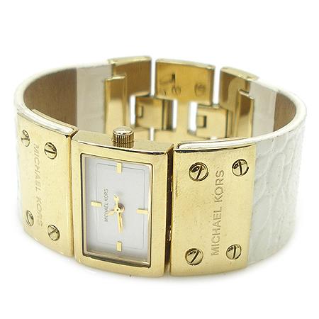 MICHAELKORS (마이클코어스) MK2147 금장 크로커다일 패턴 페이던트 가죽 밴드 여성용 시계
