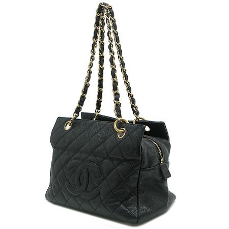 Chanel(샤넬) A18004Y01864 캐비어스킨 블랙 정방 금장 체인 숄더백 [명동매장]