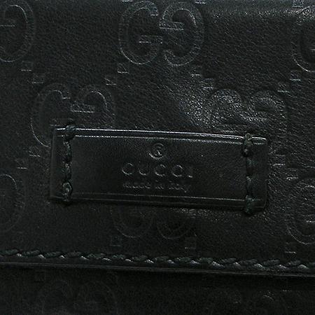 Gucci(구찌) 162916 GG 로고 블랙 시마 래더 원포켓 힙색 이미지3 - 고이비토 중고명품