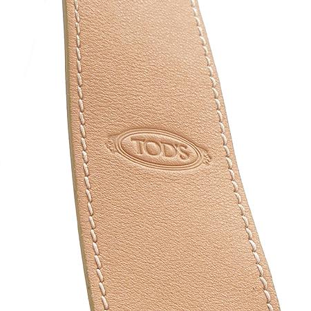Tod's(토즈) 베이지 패브릭 래더 트리밍 호보 숄더백